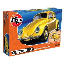 Airfix J6023 VW Beetle model do składania QUICK BUILD - żółty - NOWOŚĆ 2018r