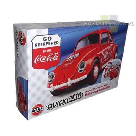 Airfix Quick Build J6048 VW Beetle model do składania, klocki, licencja Volkswagen, Coca-cola, QUICKBUILD