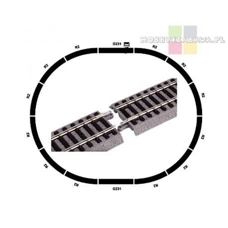 Piko|A-Gleis|55365|podstawowy zestaw torów|na podsypce|skala H0|modelarstwo