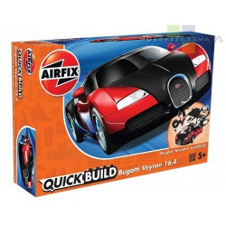 Airfix J6020 Bugatti Veyron Black & Red model do składania QUICK BUILD licencja BUGATTI