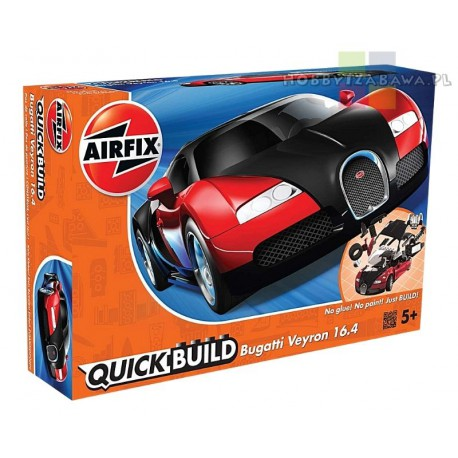 Airfix J6020 Bugatti Veyron Black & Red model do składania QUICK BUILD