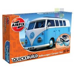Airfix J6024 VW Camper Van model do składania QUICK BUILD - niebieski - NOWOŚĆ 2018r
