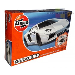 Airfix J6019 Lamborghini Aventador White model do składania QUICK BUILD
