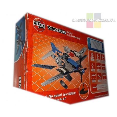 Klocki|Airfix|QUICKBUILD|J6046|D-Day|Mustang|P-51D|samolot do składania|modelarstwo|plastikowe