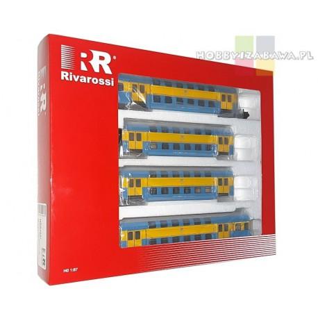 Rivarossi HRS 4237 Bhp, PKP stacja Toruń zestaw 4 wagonów piętrowych