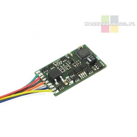Dekoder jazdy i oświetlenia Lenz Standard+ V2 10231-02 wtyk 8pin NEM 652 DCC