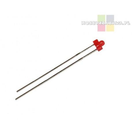 Dioda LED czerwona z wypukłym czołem o średnicy 1.8 mm i kątem świecenia 55 st.