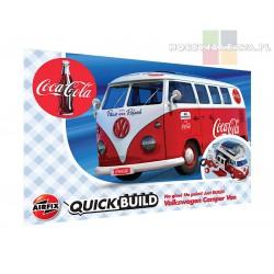Airfix J6047 VW Camper Van Coca-Cola® - auto z klocków QUICK BUILD