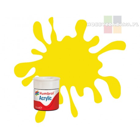 Humbrol AB0099 Lemon Matt 14 ml Acrylic Paint farba akrylowa matowa nr 99