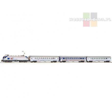 Piko 97931zestaw startowy Taurus IC PKP, trzy wagony osobowe, skala HO.