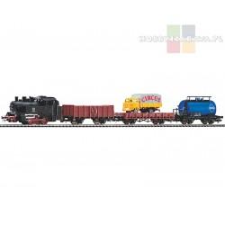 Piko 57113 zestaw startowy DB parowóz, wagony towarowe