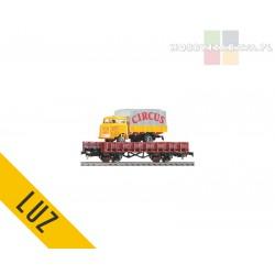 Piko platforma dwuosiowa z ciężarówką CYRK - luz