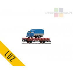 Piko platforma dwuosiowa PKP typ Kklm z ciężarówką - luz