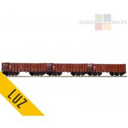 Piko zestaw wagonów towarowych 3x 31 MC RIV 50 DR Eal 4 oś - luz